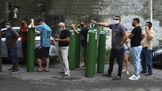 Manaos, desbordada por la pandemia: sin oxígeno ni camas en los hospitales