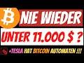 BITCOIN nie wieder unter 11000 $ ? TESLA hat einen eigenen Bitcoin ATM!