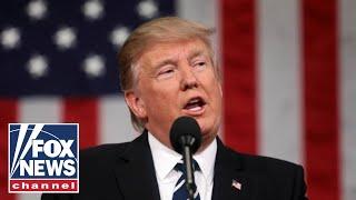 Live: Trump participates in a flag presentation ceremony