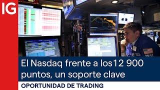 NASDAQ100 INDEX El NASDAQ 100 se enfrenta a los 12900 puntos, un soporte CLAVE | Oportunidad de trading