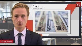 USD/JPY Bourse   USDJPY, la tendance se poursuit:objectif MT sur l'oblique   IG 13 06 2019