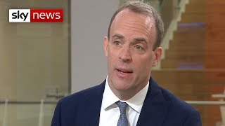 Dominic Dominic Raab says the UK needs to Brexit by October