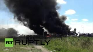 GETLINK SE Striking Calais ferry workers set fires to block Eurotunnel