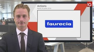 FAURECIA Bourse - Action Faurecia, dans l'attente de la rencontre Trump/Juncker demain - IG 24.07.2018