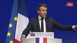 Discours d'Emmanuel Macron devant le congrès 2019 de l'AMF