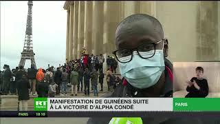 Officialisation de la victoire d'Alpha Condé : des Guinéens manifestent au Trocadéro