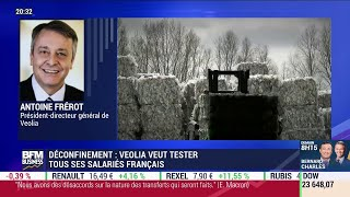 VEOLIA ENVIRON. Virus: le PDG de Veolia explique comment il souhaite tester tous ses salariés français
