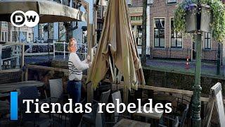 Comercios abren en Holanda aunque está prohibido