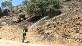 Estabilizado aunque no extinguido el incendio en el pantano de San Juan