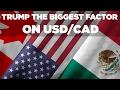 C'est Trump qui a le plus d'impact sur l'USD/CAD