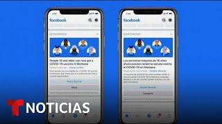 FACEBOOK INC. Facebook alertará a sus usuarios sobre la disponibilidad de vacunas contra el COVID-19