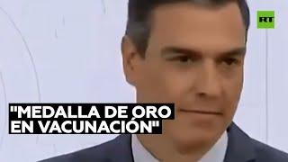 """GOLD - USD Pedro Sánchez: """"España tiene la medalla de oro en vacunación"""" contra el covid-19"""