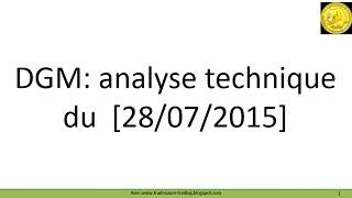 DIAGNOSTIC MEDICAL Analyse technique cours de Bourse Diagnostic Medical demandée par forum Boursorama [28-27-2015]