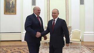 Putin trifft Lukaschenko und beschuldigt Ukraine