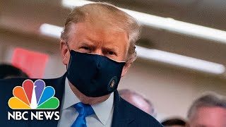 Watch: Trump Wears Face Mask During Visit To Walter Reed Hospital | NBC News