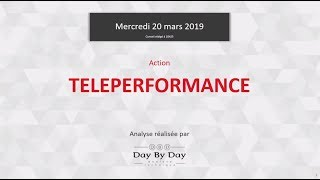TELEPERFORMANCE Action Teleperformance : la tendance haussière se confirme - Flash analyse IG 20.03.2019