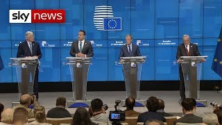 Tusk: Brexit deal helps to 'avoid chaos'