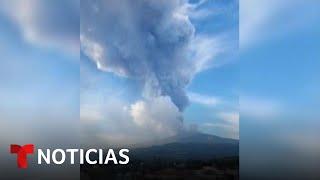 El volcán Etna entra en erupción en Italia   Noticias Telemundo