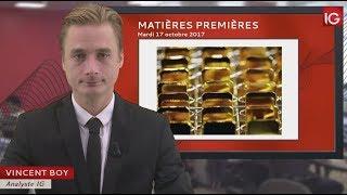 GOLD - USD Bourse - Cours de l'or, phase haussière confirmée ? - IG 17.10.2017