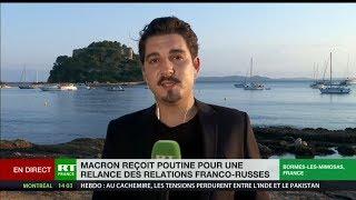 Venue de Vladimir Poutine à Brégançon : un signe d'apaisement envoyé par Emmanuel Macron