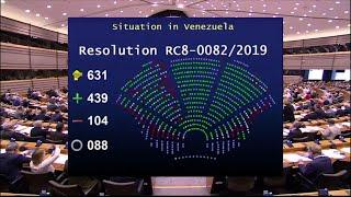 FAES Guaidó es reconocido por la UE y denuncia que las FAES han ido a su casa