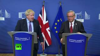 LIVE: Boris Johnson and Jean-Claude Juncker hold presser after getting #BrexitDeal.