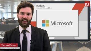 MICROSOFT CORP. Bourse - Divergence baissière majeure sur Microsoft? - IG 20.03.2019