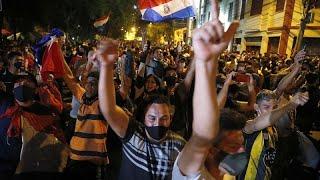 Paraguay exige la renuncia del Gobierno en el cuarto día de protestas unidas a la marcha feminista