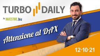 DAX40 PERF INDEX Turbo Daily 12.10.2021 - Attenzione al Dax