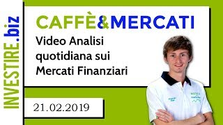 AUD/CAD Caffè&Mercati - Primo target raggiunto su AUDCAD