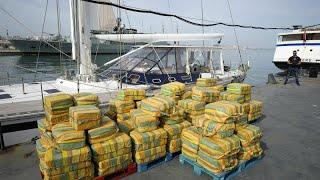 Saisie record de 5,7 tonnes de cocaïne dans un voilier espagnol, valeur : 200 millions de dollars