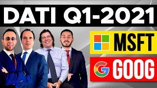 MICROSOFT CORP. Google, Microsoft Q1 2021: oggi trimestrali usa con Angelo Ciavarella e Tony Puviani