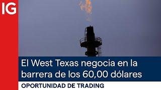 WTI CRUDE OIL El West Texas (WTI) negocia en la BARRERA PSICOLÓGICA de los 60,00 DÓLARES | Oportunidad de trading