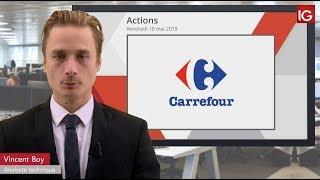 CARREFOUR Bourse   CARREFOUR, se maintient malgré les tensions   IG 10 05 2019