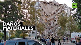 Derrumbes en Turquía tras un maremoto en el mar Egeo
