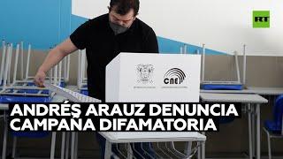 FACEBOOK INC. Ecuador: Andrés Arauz denuncia campaña difamatoria en cientos de cuentas de Facebook
