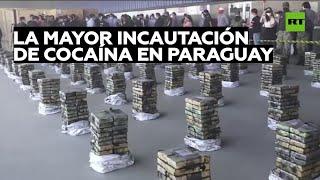 Incautación récord de 2,3 toneladas de cocaína en Paraguay