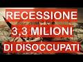 Questa è RECESSIONE: 3 MILIONI di Disoccupati in USA