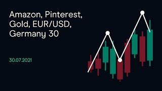 AMAZON.COM INC. Amazon, Pinterest, Gold, EUR/USD, Germany 30 ( CMC BBQ 30.07.21)