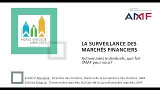La surveillance des marchés financiers - Webconférence - 1ère partie