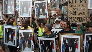 Deuxième journée de mobilisation anti-G7 face à un dispositif policier de grande envergure