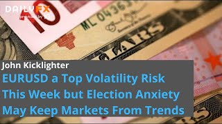 EUR/USD EURUSD a Top Volatility Risk This Week but Election Anxiety May Keep Markets From Trends