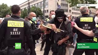 Berlin : heurts et interpellations lors d'une manifestation contre les restrictions anti-Covid