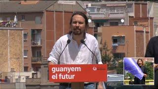 """Iglesias: El ejemplo de Colau """"llena de energía"""" para negociar un gobierno"""