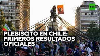 """Plebiscito en Chile: arrasa el """"Apruebo"""" a una nueva Constitución, según primeros resultados"""