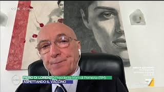 """Vaccino Covid, Piero Di Lorenzo (IRBM): """"Entro giugno 2021 tutti quelli che vorranno potranno ..."""