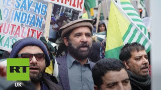 Protesters decry India's treatment of Kashmir