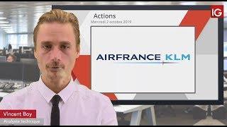 AIR FRANCE -KLM Bourse - AIRFRANCE-KLM, un intermédiaire en soutien - IG 02.10.2019