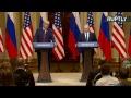 Conférence de presse de Vladimir Poutine et de Donald Trump à Helsinki