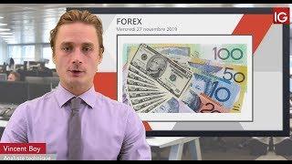 AUD/USD Bourse - AUDUSD, le dollar pourrait être volatil en séance - IG 27.11.2019